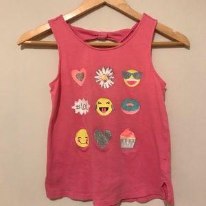 SO | Girls Pink Emoji tank Size 10